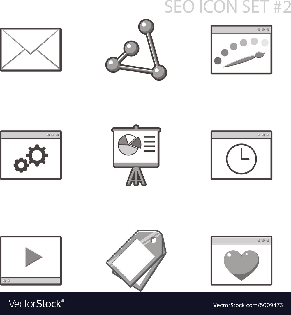 Seo and internet icon set vector
