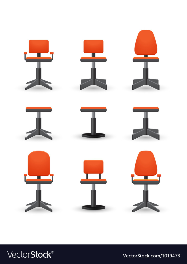 Set of office chair vector | Price: 1 Credit (USD $1)