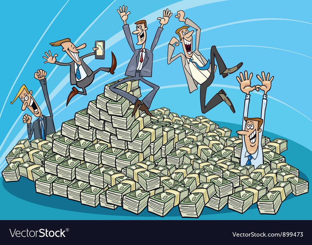 Successful businessmen vector | Price: 1 Credit (USD $1)