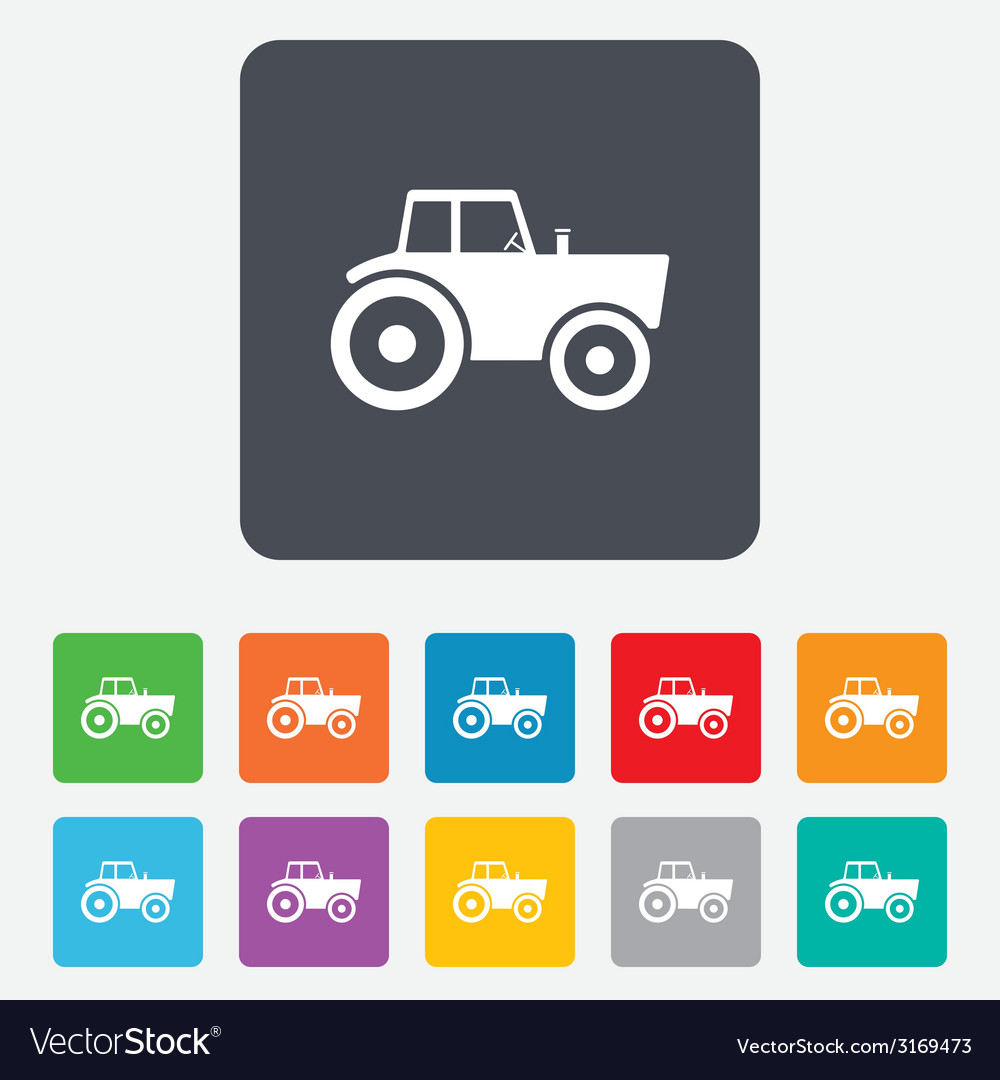 Tractor sign icon agricultural industry symbol vector | Price: 1 Credit (USD $1)