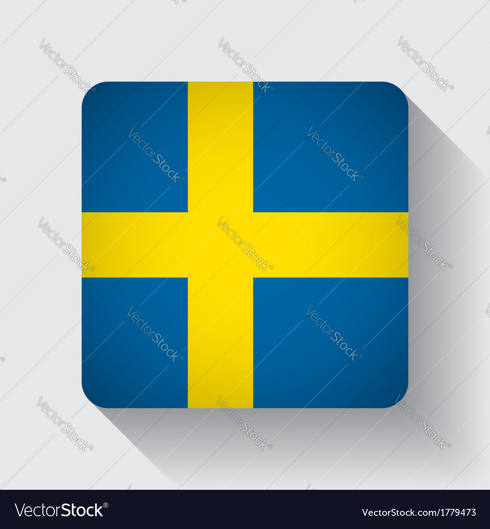 Web button with flag of sweden vector | Price: 1 Credit (USD $1)