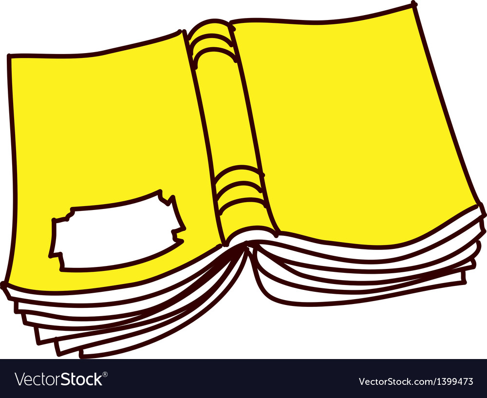 Yellow book vector | Price: 1 Credit (USD $1)