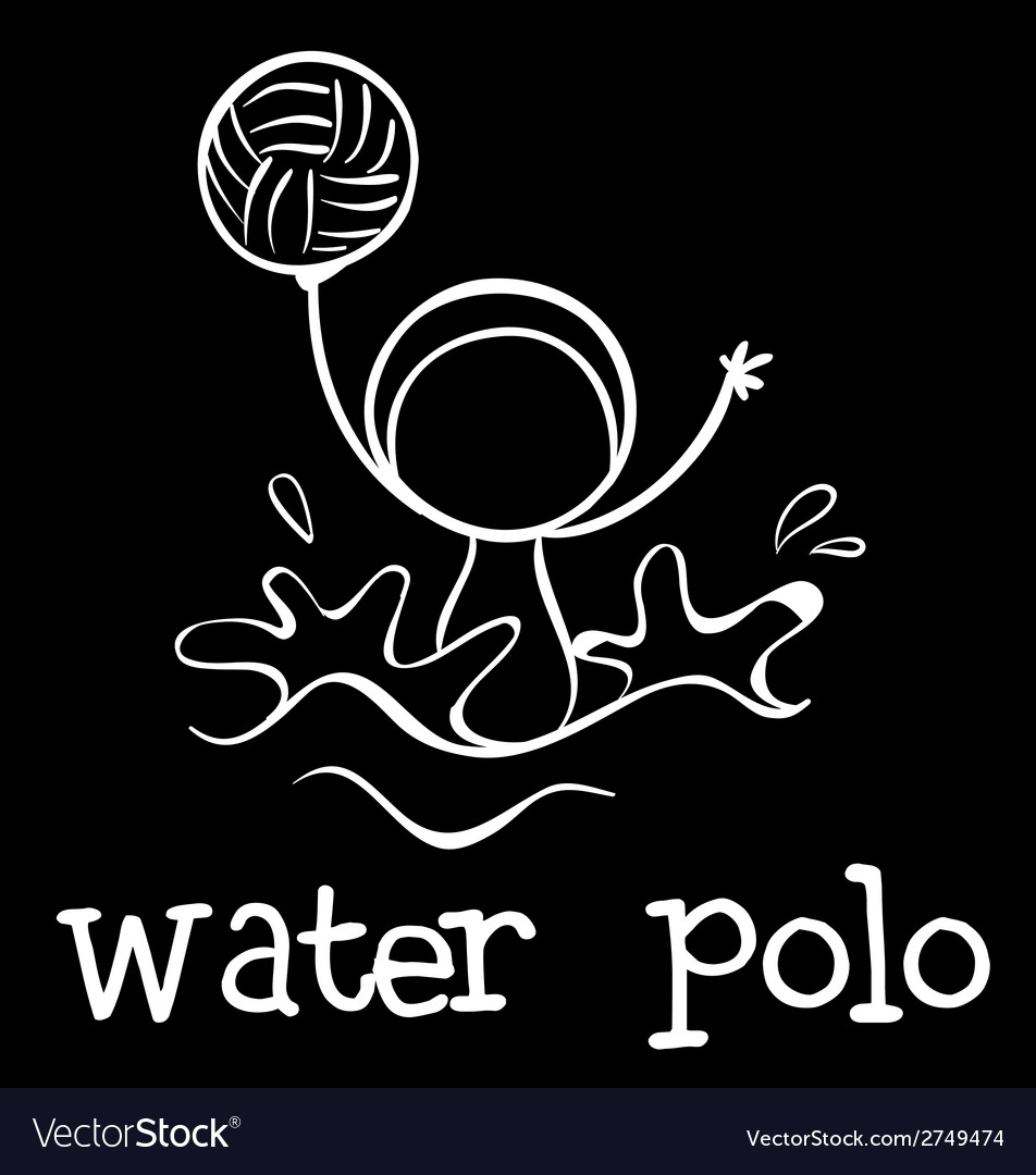 A water polo sports vector | Price: 1 Credit (USD $1)