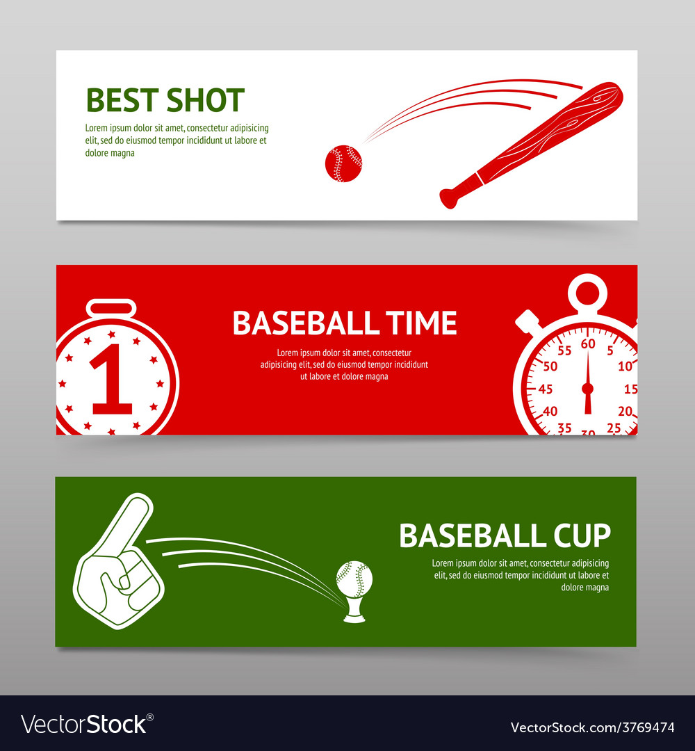 Baseball banners set vector | Price: 1 Credit (USD $1)