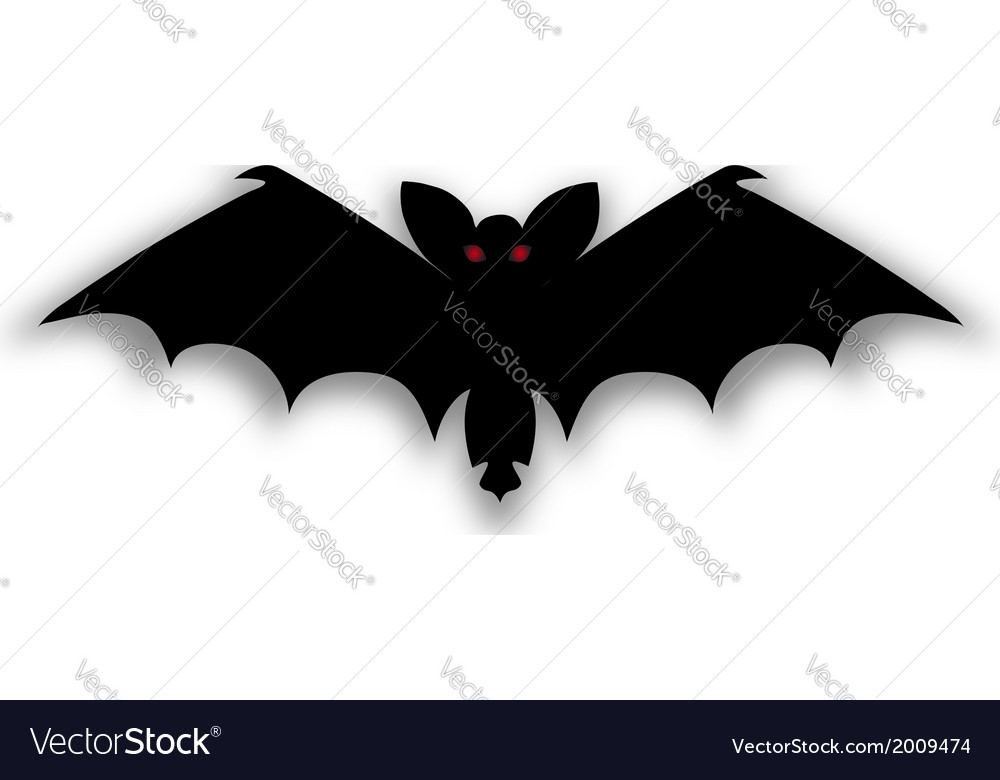 Bat silhouettes - halloween vector | Price: 1 Credit (USD $1)