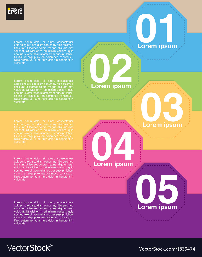 Colorful octagon banner template eps10 vector | Price: 1 Credit (USD $1)