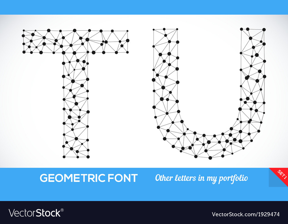Geometric type font vector | Price: 1 Credit (USD $1)