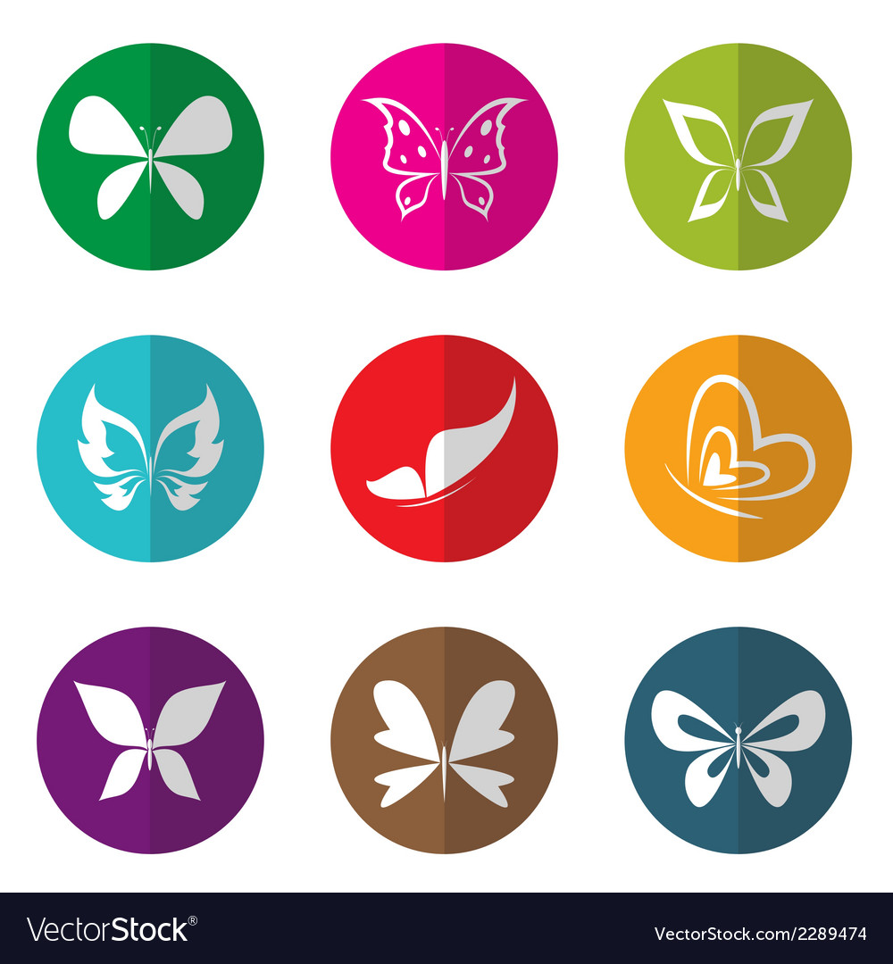 Group of butterfly in the circle vector | Price: 1 Credit (USD $1)