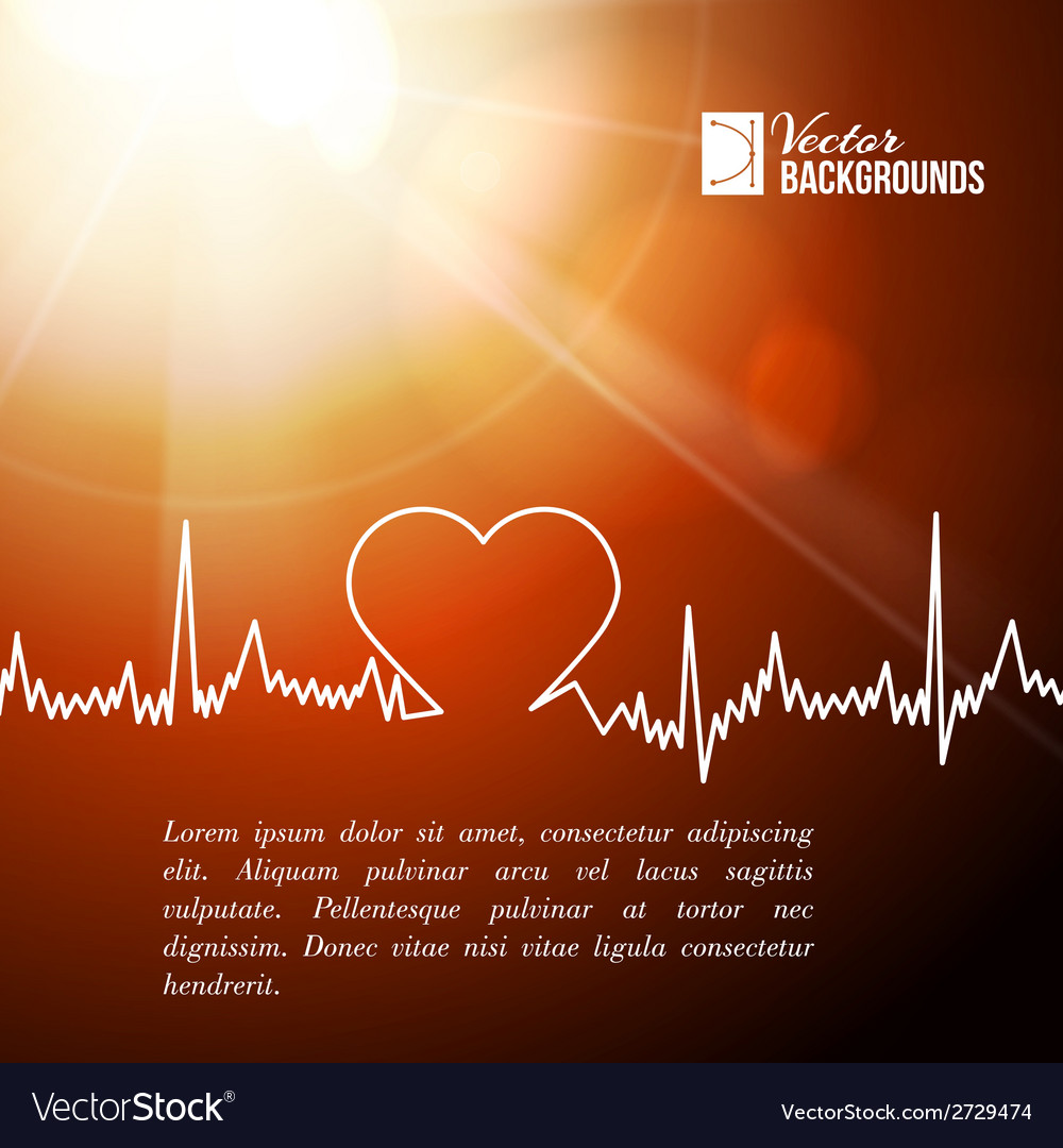 Heart shape ecg line vector | Price: 1 Credit (USD $1)