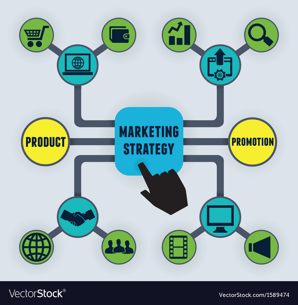 Infographic of marketing strategy vector | Price: 1 Credit (USD $1)