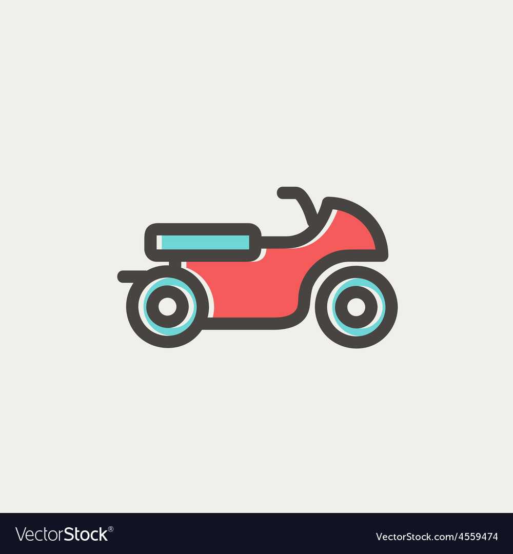 Motor thin line icon vector | Price: 1 Credit (USD $1)