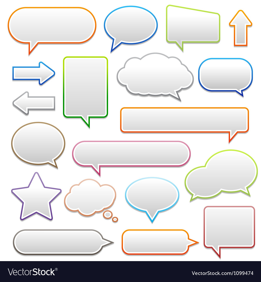 Pop-up bubble with shadow on white background vector | Price: 1 Credit (USD $1)