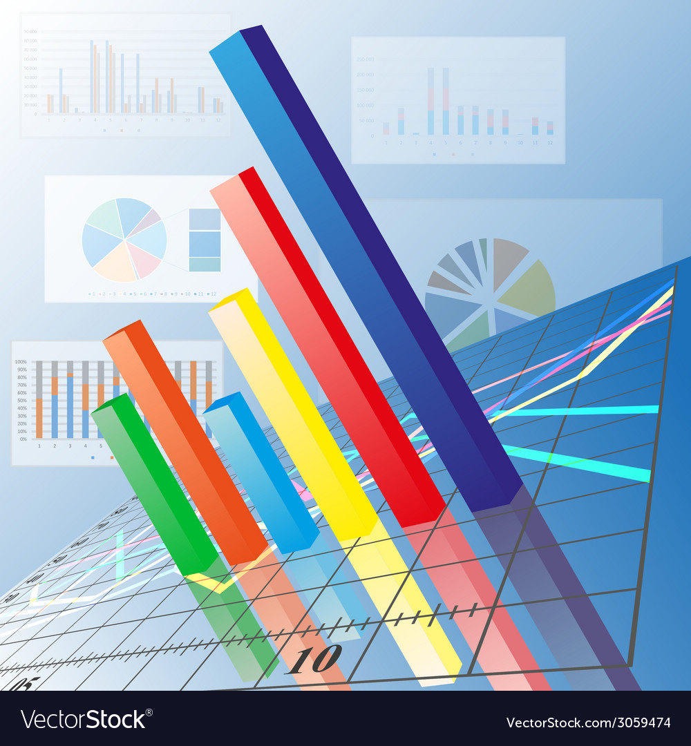 Progressive bar chart abstract vector | Price: 1 Credit (USD $1)