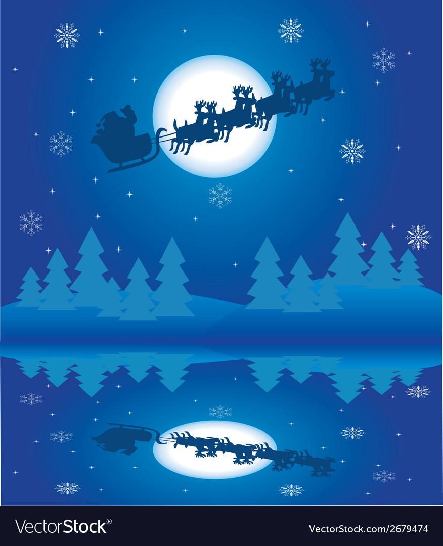 Santa reflection vector | Price: 1 Credit (USD $1)
