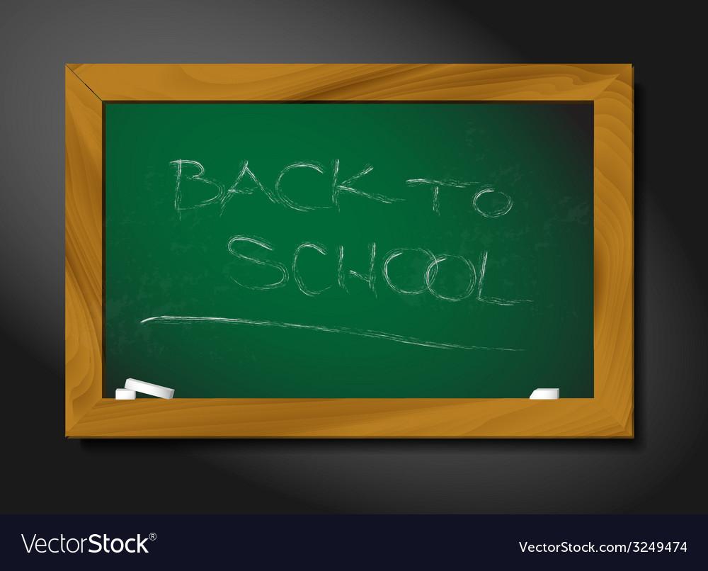 School blackboard vector | Price: 1 Credit (USD $1)