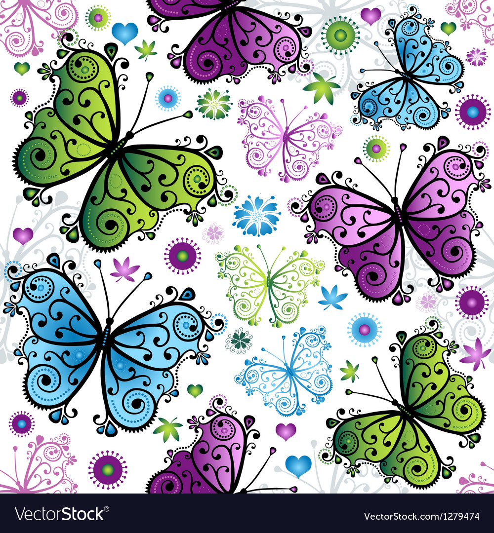 Seamless spring bright pattern vector | Price: 1 Credit (USD $1)