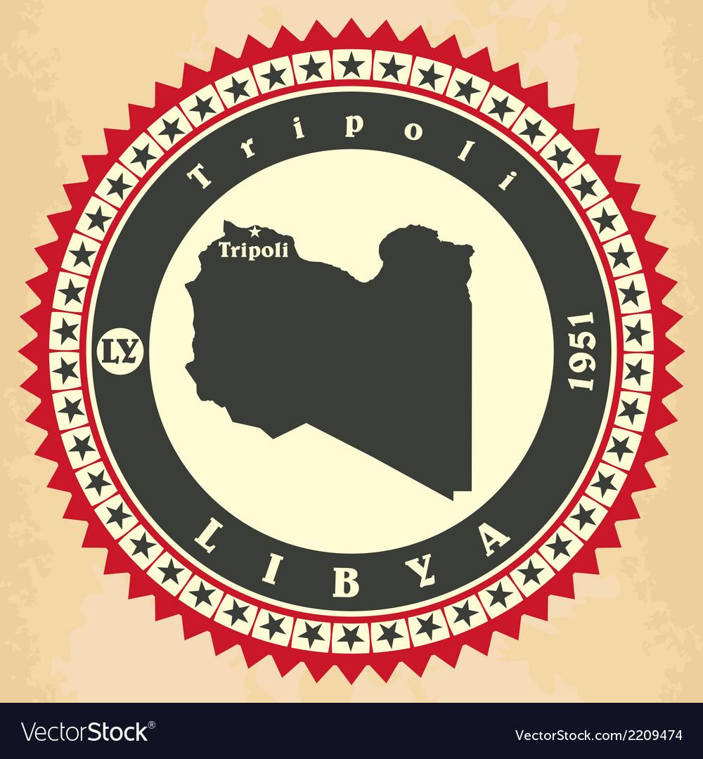 Vintage label-sticker cards of libya vector | Price: 1 Credit (USD $1)