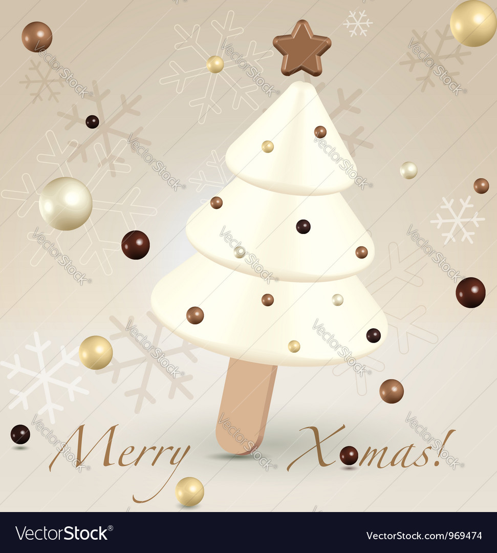 White christmas postcard greetings vector | Price:  Credit (USD $)