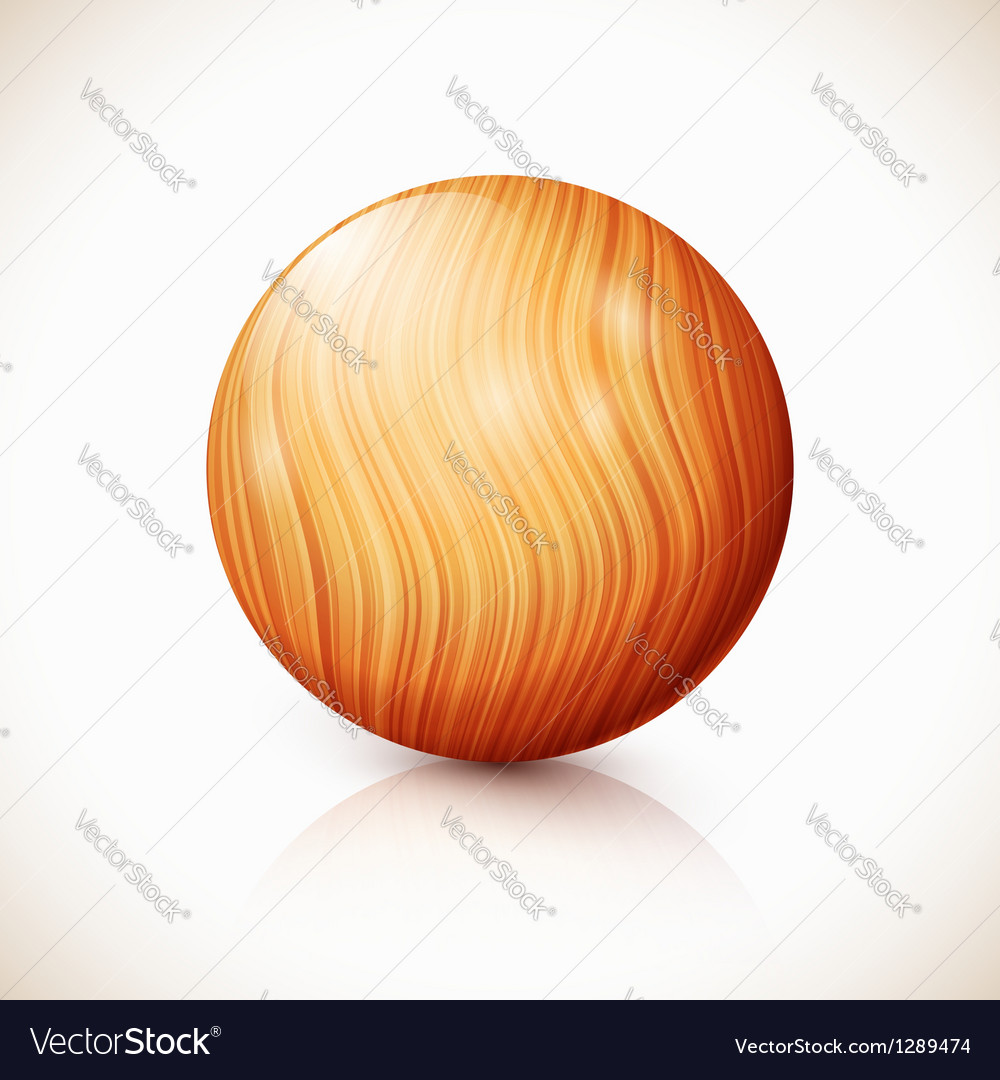 Yellow isolated wooden ball vector | Price: 1 Credit (USD $1)