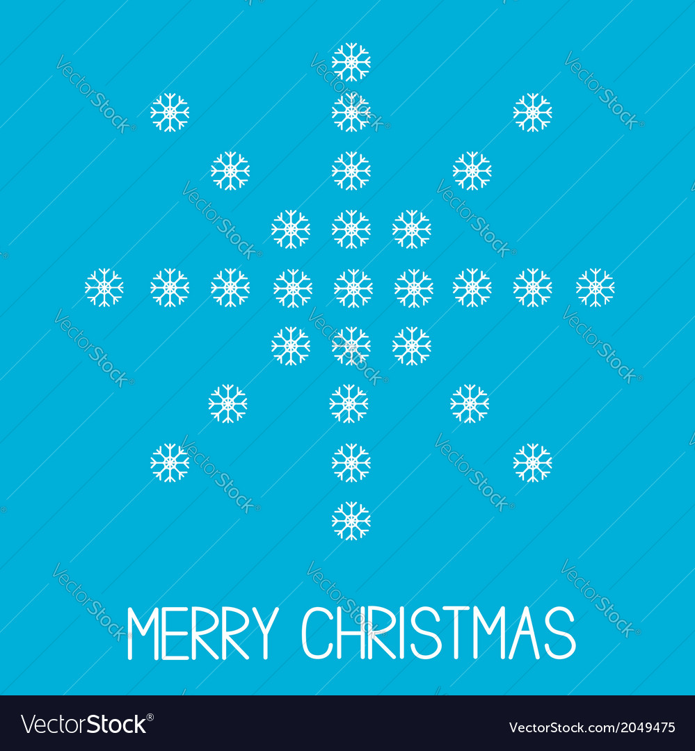 Big snowflake merry christmas vector | Price: 1 Credit (USD $1)