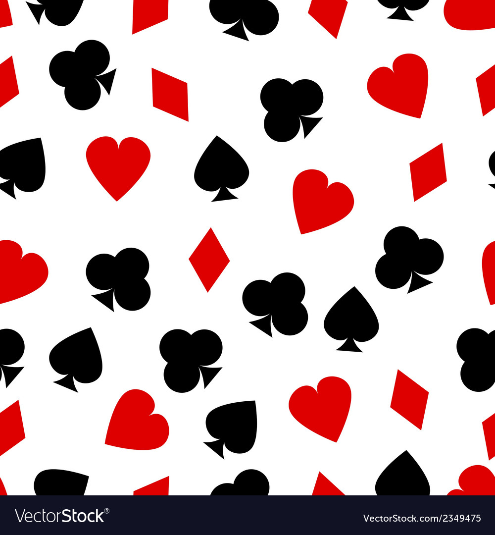 Cards suits pattern vector | Price: 1 Credit (USD $1)