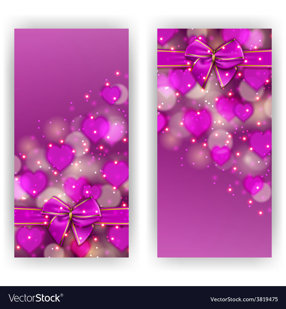 Festive background with hearts bokeh vector | Price: 3 Credit (USD $3)