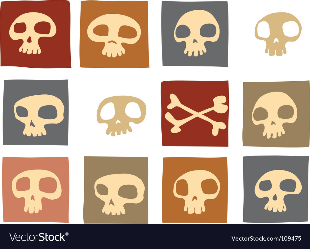 Funny skulls vector | Price: 1 Credit (USD $1)