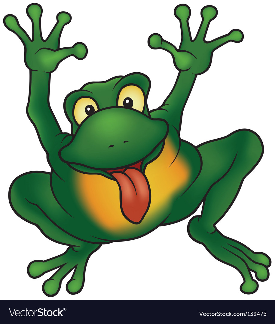 Happy frog vector | Price: 1 Credit (USD $1)