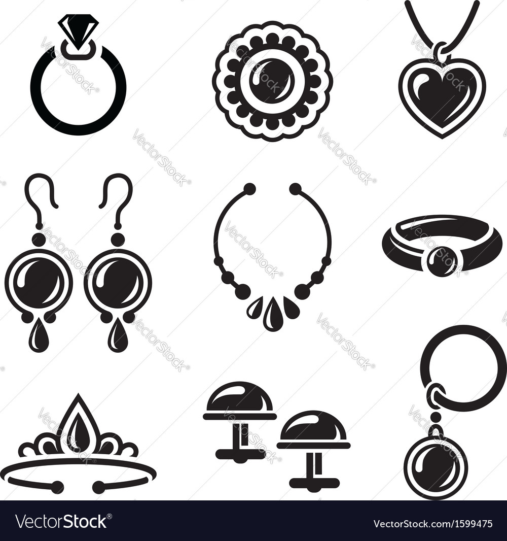 Jewelry icons vector | Price: 1 Credit (USD $1)