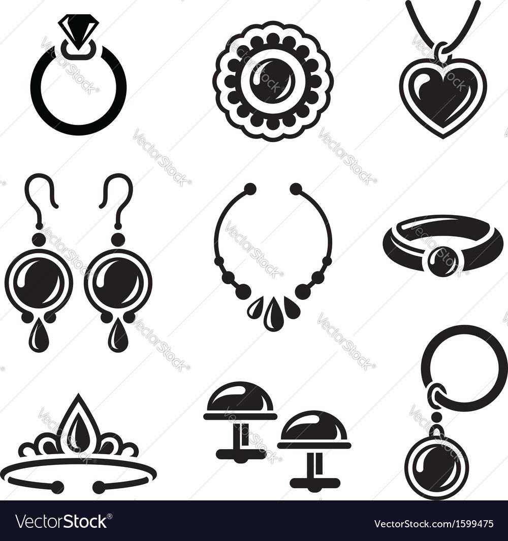 Jewelry icons vector | Price: 1 Credit (USD $1)