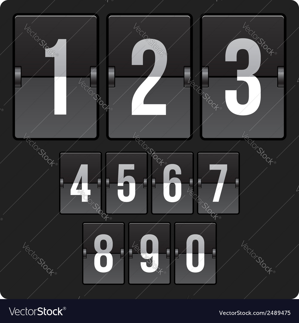 Scoreboard with numbers vector | Price: 1 Credit (USD $1)