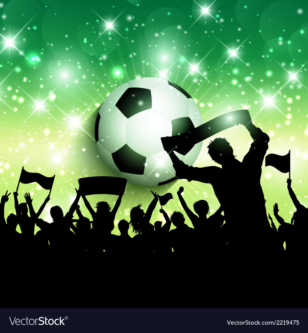 Silhouette of a football soccer crowd background vector | Price: 1 Credit (USD $1)