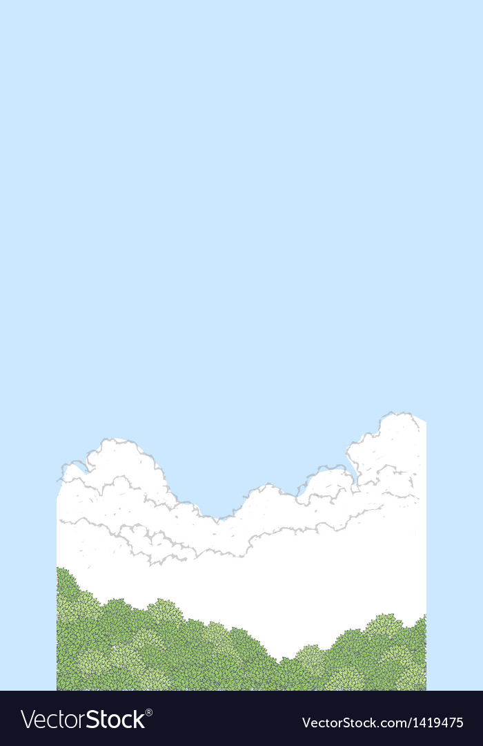 Sky landscape background vector | Price: 1 Credit (USD $1)