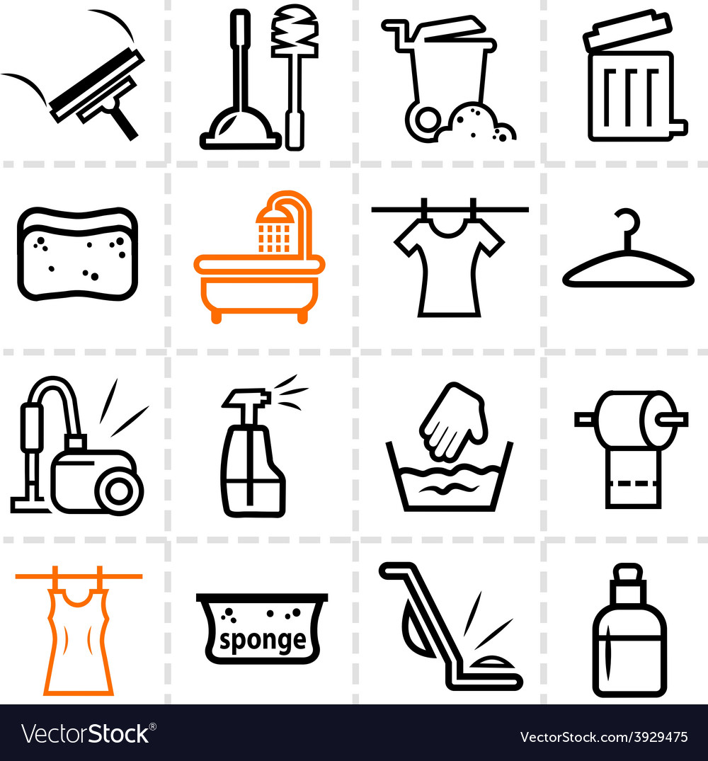 Washing icons vector | Price: 1 Credit (USD $1)