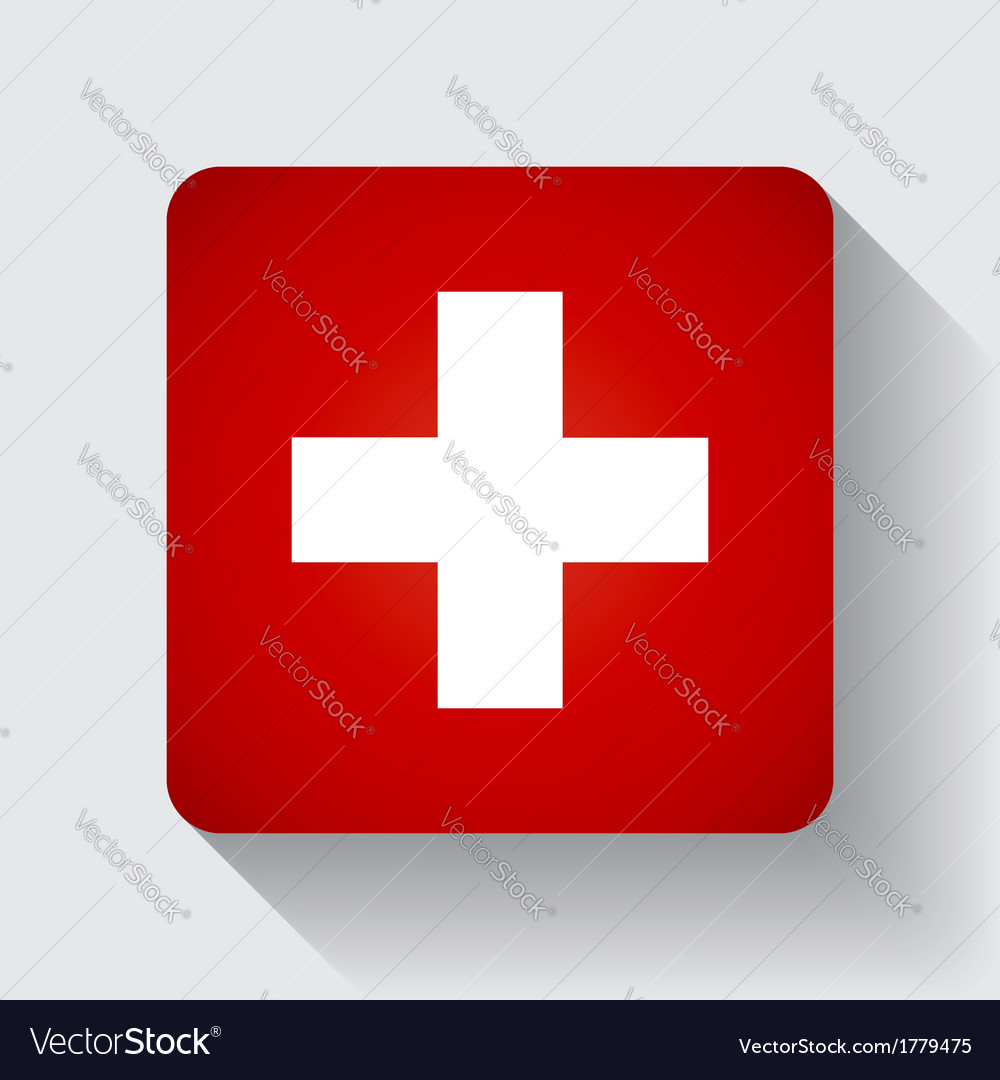 Web button with flag of switzerland vector | Price: 1 Credit (USD $1)
