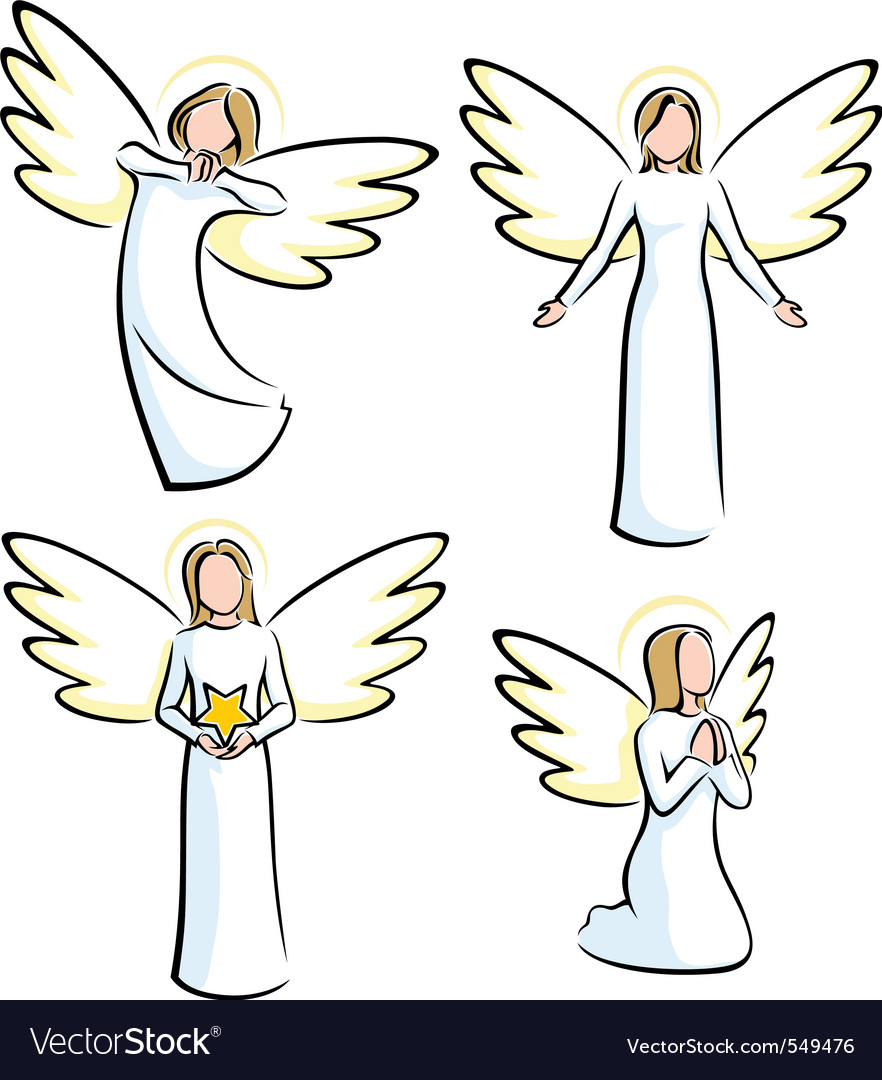 Angels vector | Price: 1 Credit (USD $1)