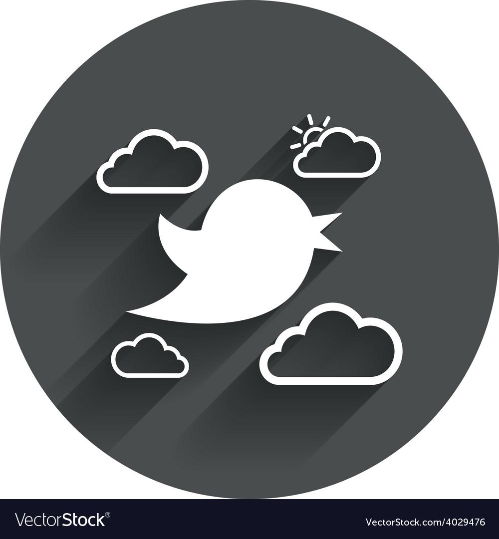Bird sign icon social media symbol vector | Price: 1 Credit (USD $1)