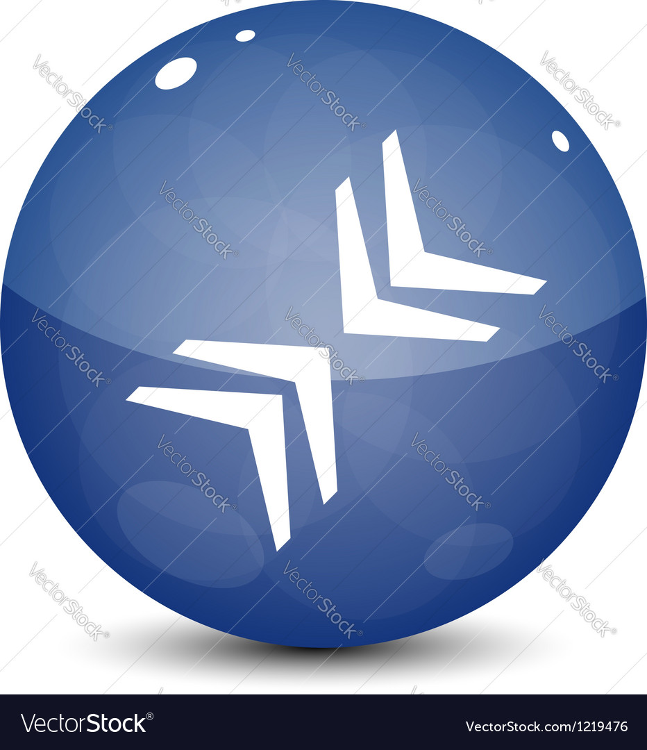 Blue icon with arrows vector | Price: 1 Credit (USD $1)