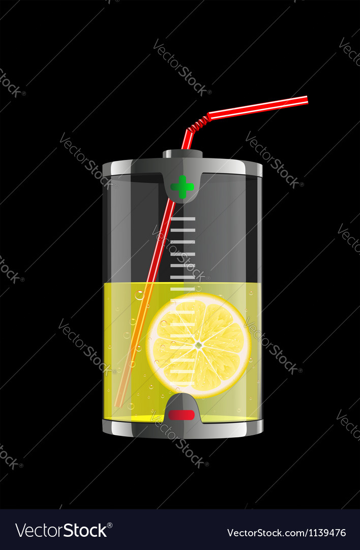 Energy lemon vector | Price: 3 Credit (USD $3)