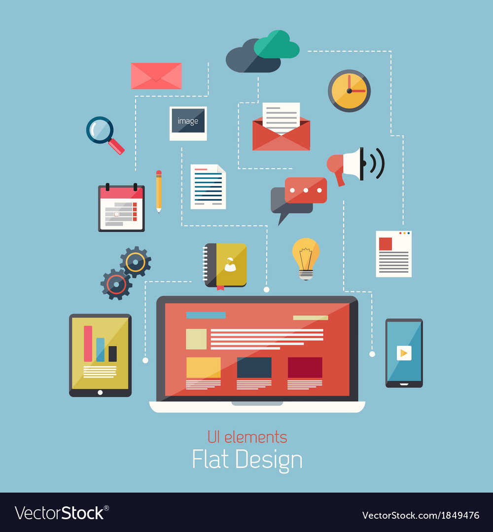 Flat icons 2 vector | Price: 1 Credit (USD $1)