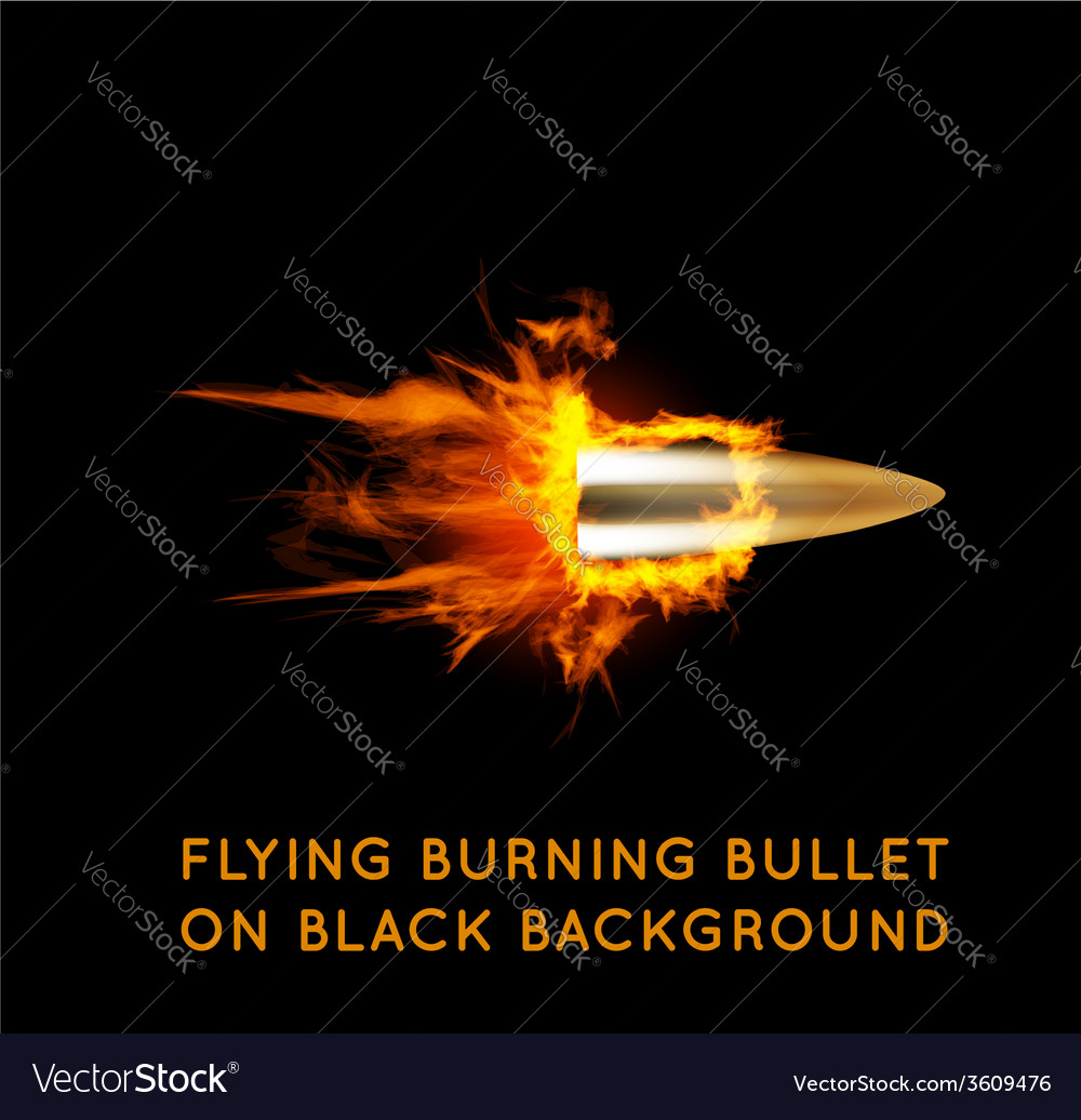 Flying burning bullet vector | Price: 1 Credit (USD $1)
