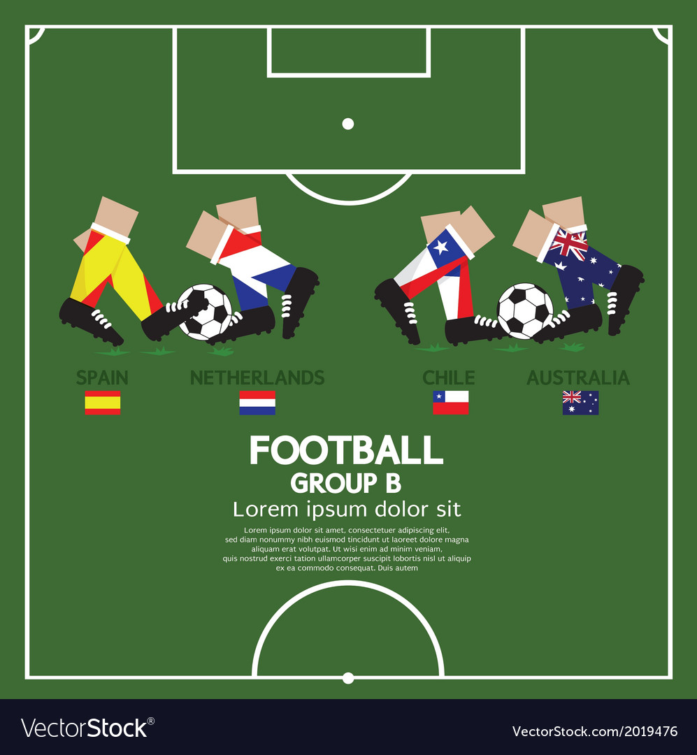 Group b 2014 football tournament vector | Price: 1 Credit (USD $1)