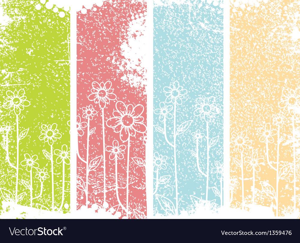 Grunge flower design vector | Price: 1 Credit (USD $1)