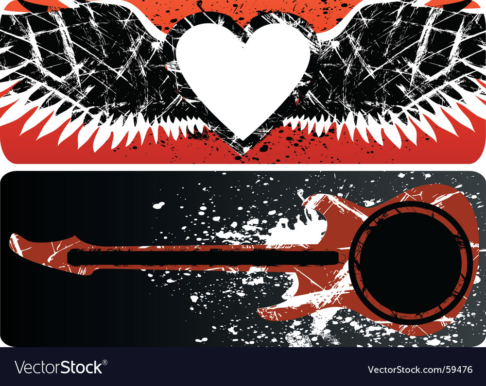 Heart and guitar vector | Price: 1 Credit (USD $1)