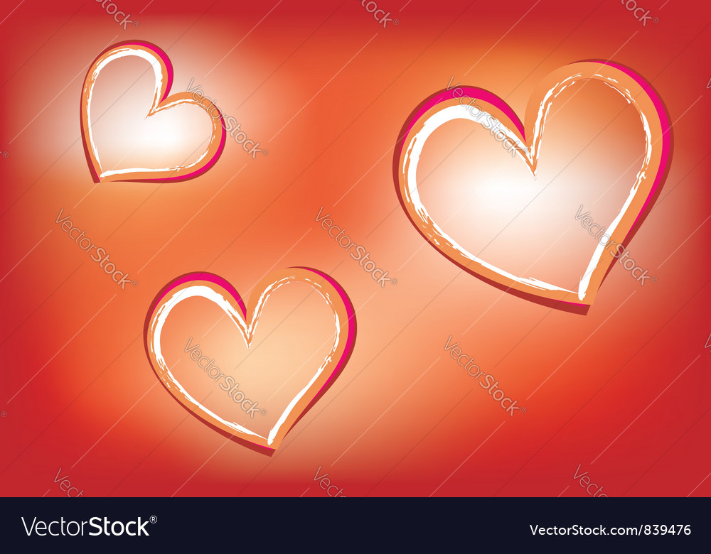 Hearts on luminous background vector | Price: 1 Credit (USD $1)