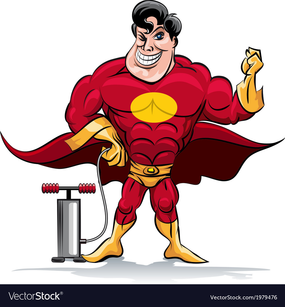 Pumping superhero vector | Price: 1 Credit (USD $1)