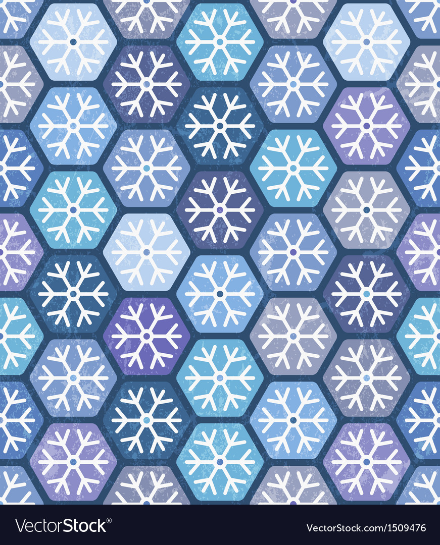 Seamless geometric pattern with snowflakes vector | Price: 1 Credit (USD $1)