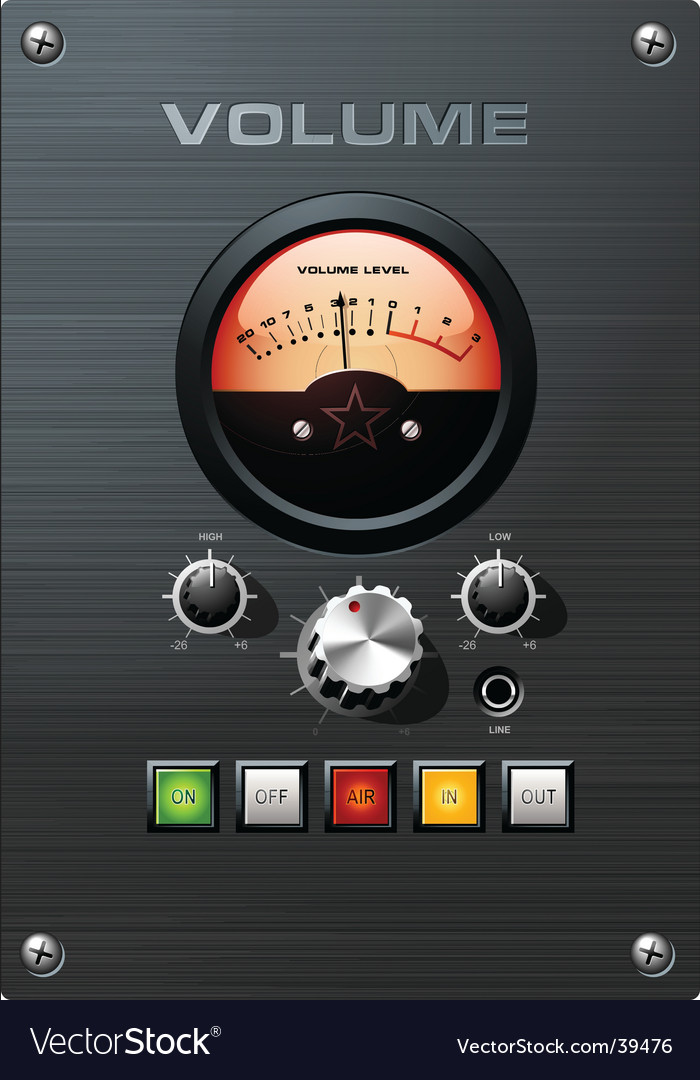 Volume meter vector | Price: 3 Credit (USD $3)