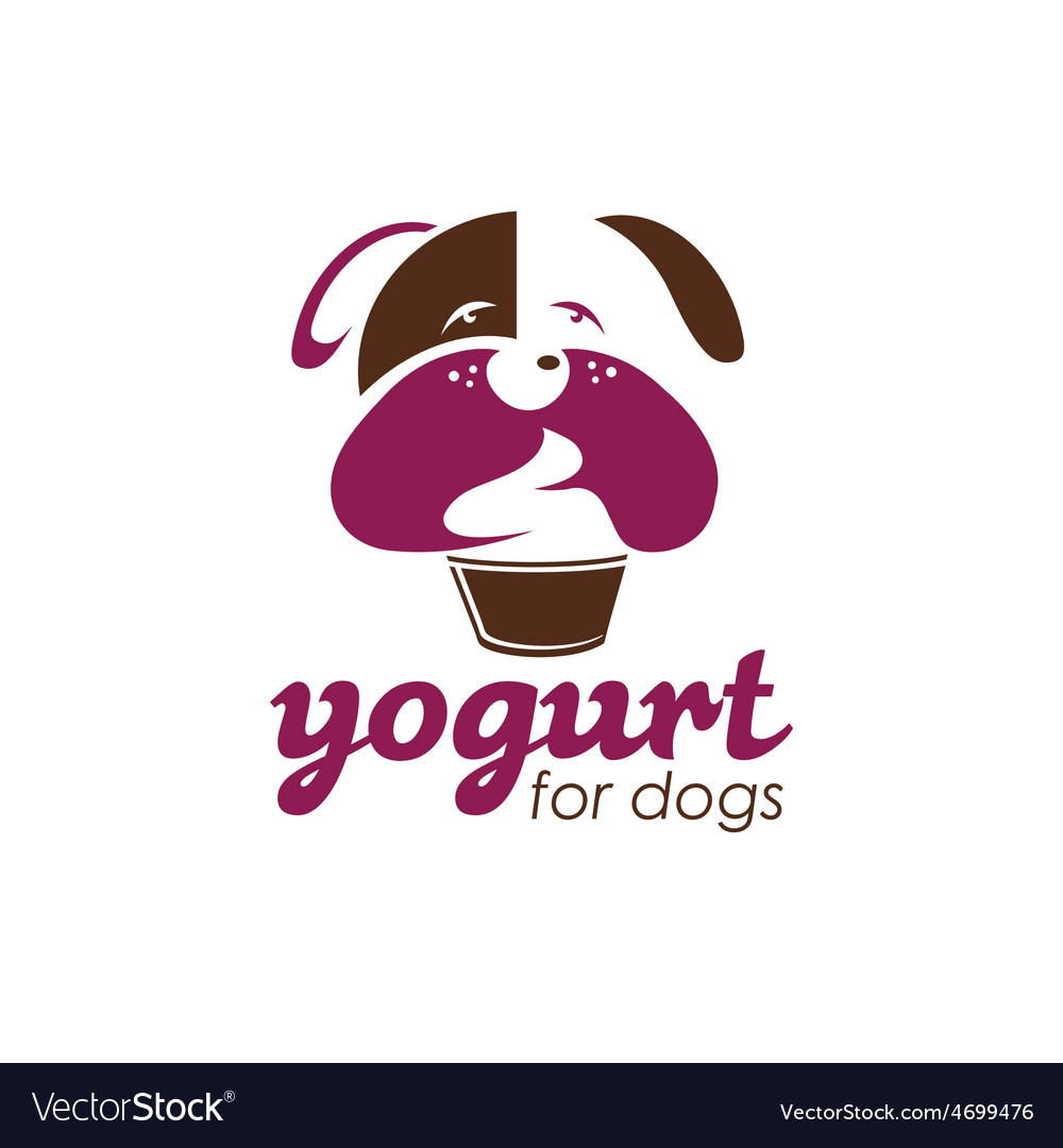 Yogurt for dogs concept design template vector | Price: 1 Credit (USD $1)