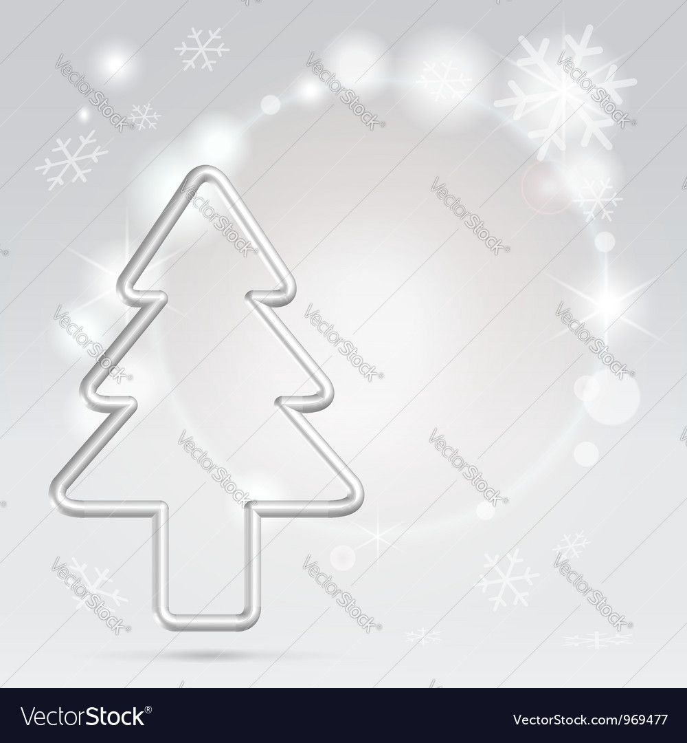 Christmas silver background vector | Price:  Credit (USD $)